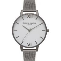 Ladies Olivia Burton Big White Dial Watch OB16BDW06