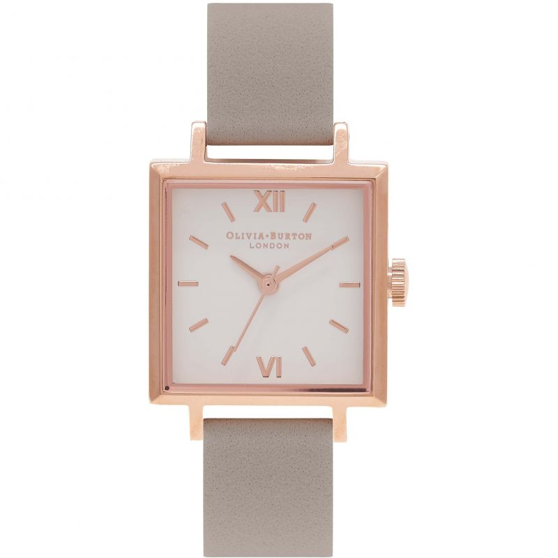 Square Dials Grey & Rose Gold Watch