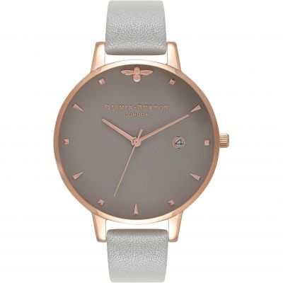 Olivia Burton Go For Greige Go For Greige Rose Gold & Grey Damenuhr in Grau OB16AM87