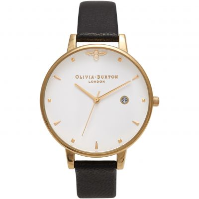 Queen Bee Black & Gold Watch