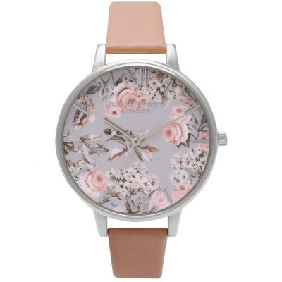Olivia Burton Enchanted Garden Enchanted Garden Rose Gold & Nude Peach Damenuhr in Nackt OB16FS75