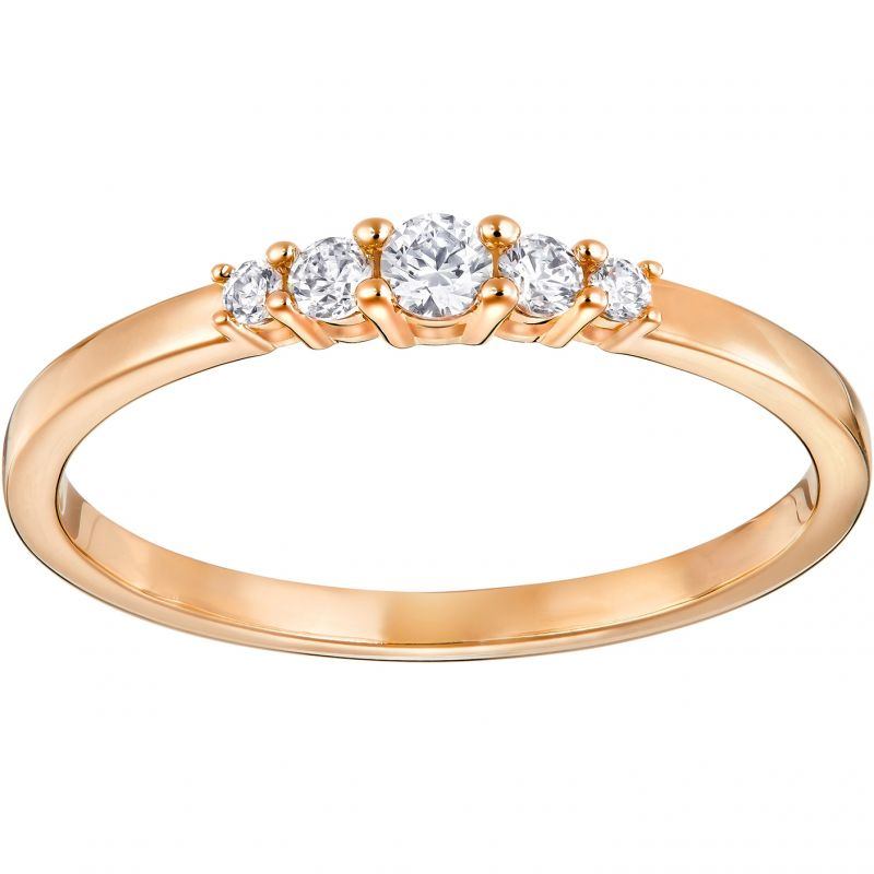 Ladies Swarovski Rose Gold Plated Size N Frisson Ring