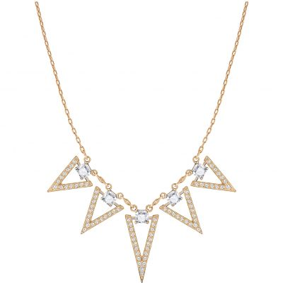 Ladies Swarovski Gold Plated Funk Necklace 5241273