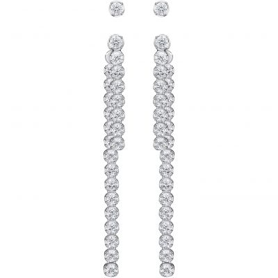 Ladies Swarovski Rhodium Plated Subtle Earrings 5224174