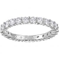 Ladies Swarovski Rhodium Plated Size N Vittore Ring 5237742