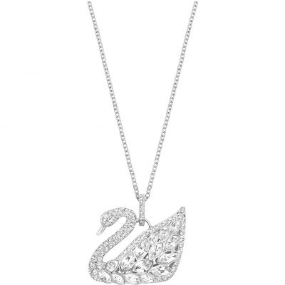 Ladies Swarovski Rhodium Plated Swan Lake Pendant 5169080