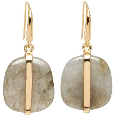 Ladies Lola Rose Rose Gold Plated Labradorite Bassa Earrings 581318