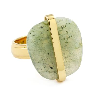 Ladies Lola Rose Gold Plated Labradorite Bassa Line Ring 581806