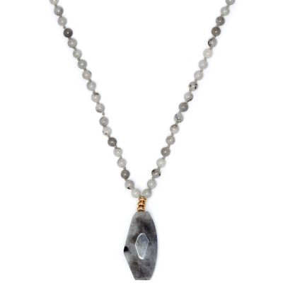 Ladies Lola Rose Gold Plated Light Labradorite Elemental Necklace 590761