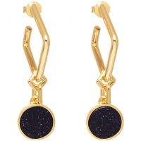 Lola Rose Dam Blue Sandstone Garbo Circle Earrings Guldpläterad 583428
