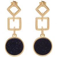 Lola Rose Dam Blue Sandstone Garbo Large Circle Earrings Roséguldspläterad 583480