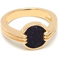 Lola Rose Dam Blue Sandstone Garbo Mini Ring Guldpläterad 583671