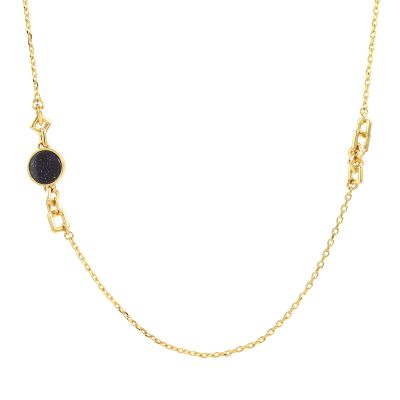 Bijoux Femme Lola Rose Blue Sandstone Garbo Station Collier 584074