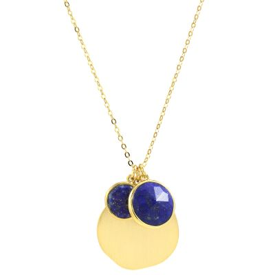 Ladies Lola Rose Gold Plated Lapis Lazuli Nerio Short Necklace 585750