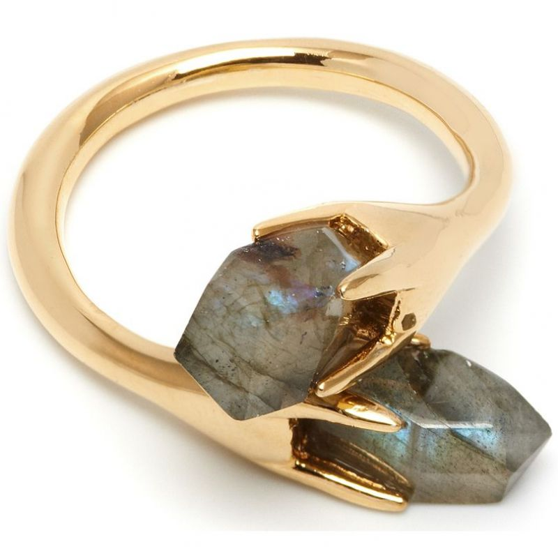 Ladies Lola Rose Gold Plated Labradorite Perla Ring 553599
