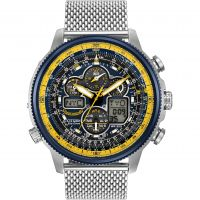 Mens Citizen Navihawk A-T Blue Angels Alarm Chronograph Radio Controlled Eco-Drive Watch