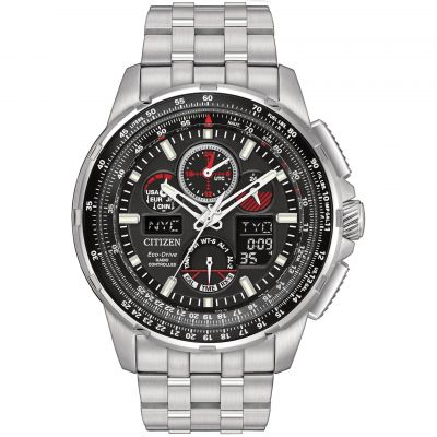 Mens Citizen Skyhawk A-T Alarm Chronograph Radio Controlled Watch JY8050-51E