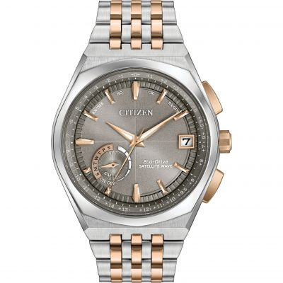 Citizen Satellite Wave-World Time GPS Herrenuhr in Zweifarbig CC3026-51H