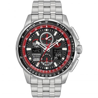 Mens Citizen Skyhawk A-T Red Arrows Alarm Chronograph Radio Controlled Watch JY8059-57E