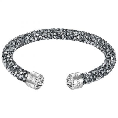Ladies Swarovski Rhodium Plated Crystaldust Cuff 5250071