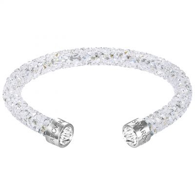 Ladies Swarovski Rhodium Plated Crystaldust Cuff 5250072