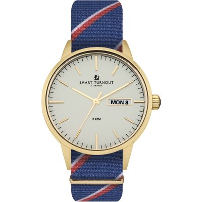 Smart Turnout British Herrenuhr in Blau STH4/WH/56/W-RN/D