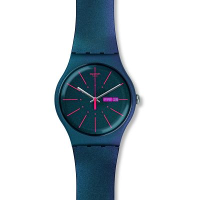 Swatch Originals New Gent New Gentleman Unisexuhr in Blau SUON708