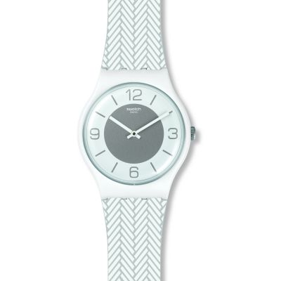 Swatch Originals New Gent White Glove Unisexuhr in Weiß SUOW131