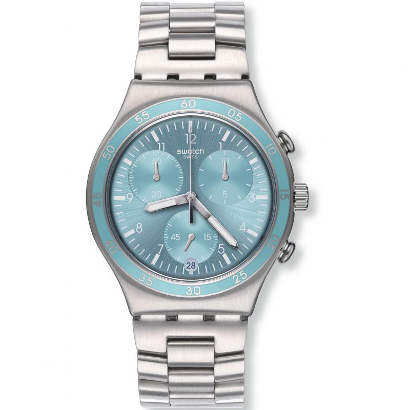 Unisex Swatch Clear Water Chronograph Watch