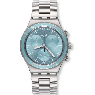 Unisex Swatch Clear Water Chronograph Watch YCS589G
