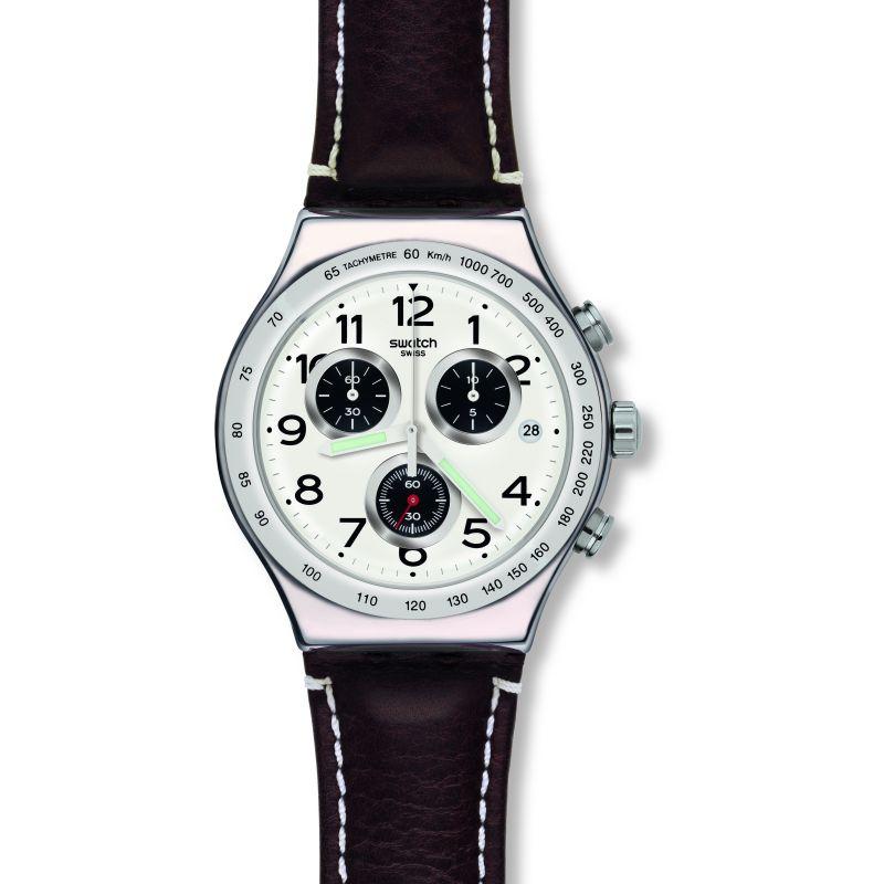 Mens Swatch Destination Hamburg Chronograph Watch