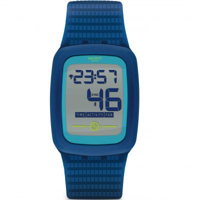 Swatch TouchZero2 Electrozero2 Bluetooth Herrenuhr in Blau SVQN100