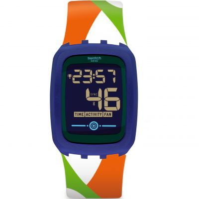 Swatch TouchZero2 Veraozero2 Bluetooth Herrenuhr in Mehrfarbig SVQN101