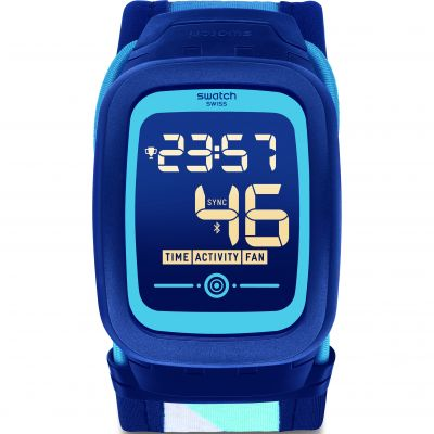 Swatch TouchZero2 Nossazero2 XL Bluetooth Herrenuhr in Blau SVQN102XL