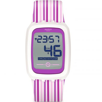Unisex Swatch Strawzero2 Bluetooth Alarm Watch SVQW100