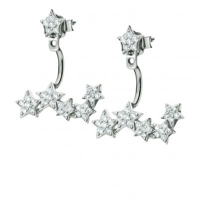 Ladies Folli Follie Sterling Silver Fashionably Silver Starry Sky Cuff Earrings 5040.2672
