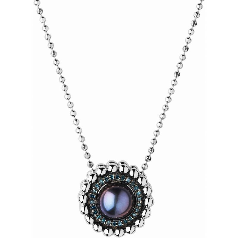 Ladies Links Of London Sterling Silver Effervescence Blue Diamond & Pearl Necklace 5020.3000