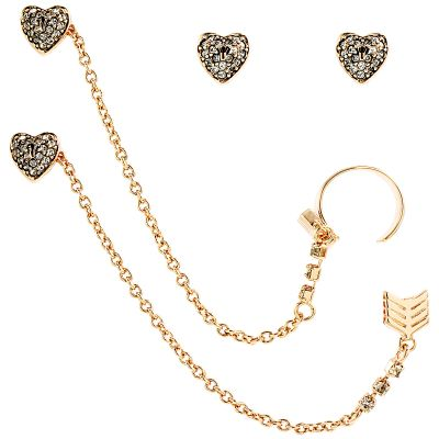 Biżuteria damska Juicy Couture Jewellery Heart Arrow Luxe Wishes Earrings WJW62495-690