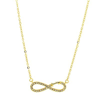 Bijoux Femme Juicy Couture Pave Infinity Luxe Wishes Collier WJW62525-712