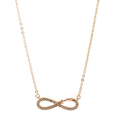 Damen Juicy Couture Pave Infinity Luxe Wishes Halskette Basismetall WJW62525-690