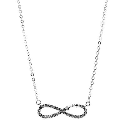 Ladies Juicy Couture Base metal Pave Infinity Luxe Wishes Necklace WJW62525-040