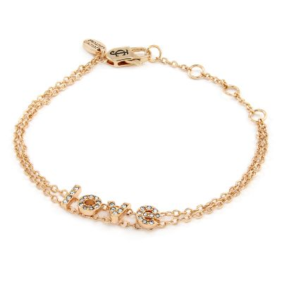 Ladies Juicy Couture Base metal Layered Ic Couture Love Letters Chain Bracelet WJW68679-690