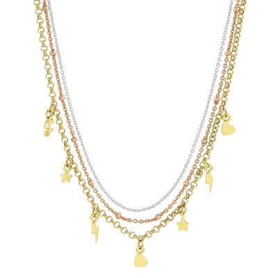 Bijoux Femme Juicy Couture Charmy Layered Luxe Wishes Collier WJW62575-712