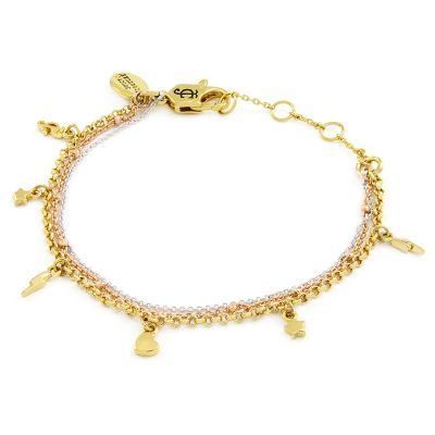 Juicy Couture Dames Charmy Layered Luxe Wishes Bracelet Basismetaal WJW62576-712