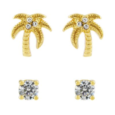 Gioielli da Donna Juicy Couture Jewellery Juicy Palm Expressions Stud Earrings Set WJW71008-712