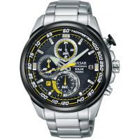Mens Pulsar Chronograph Solar Powered Watch PZ6003X1