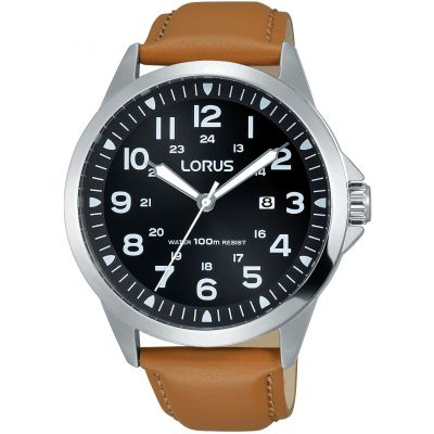 Lorus Herrenuhr in Braun RH933GX9