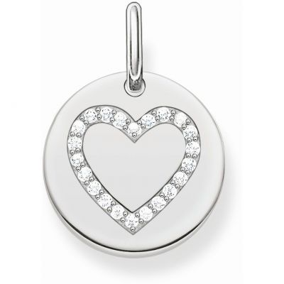 Damen Thomas Sabo Love Bridge Heart Anhänger Charm Sterling-Silber LBPE0005-051-14