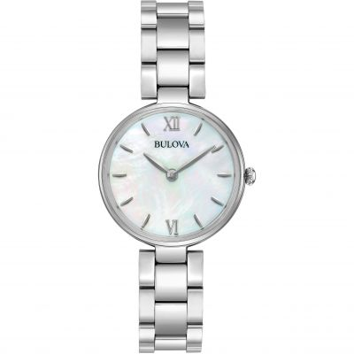 Bulova Dress Damenuhr in Silber 96L229