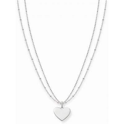 Thomas Sabo Dam Love Bridge Heart Necklace Sterlingsilver LBKE0004-001-12-L45V